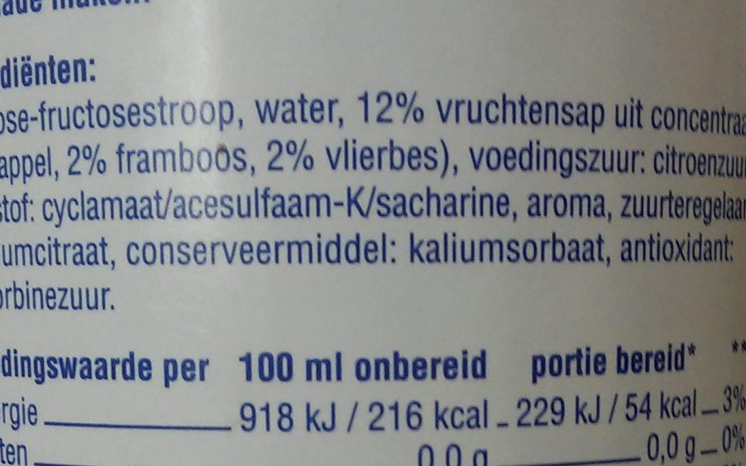Hoe weet ik welke ingrediënten er in een voedingsmiddel zitten?